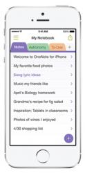 Bild zu «Microsoft erweitert OneNote für iPhone und Mac»