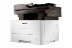 Die Schwarzweiß-Reihe Xpress M2885 (Bild) und die Farblaser der Serie Xpress C1860 sind Samsungs aktuelle NFC-Systeme (Bild: Samsung).