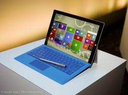 Der 12-Zoll-Touchscreen des Surface Pro 3 löst 2160 mal 1440 Pixel auf (Bild: Sarah Tew/CNET).