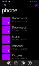 Microsoft arbeitet an einem Dateimanager für Windows Phone (Screenshot: Microsoft).