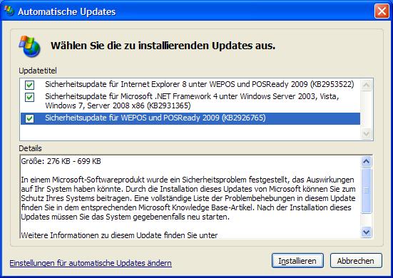 Windows XP: Ein simpler Registry-Trick hebt den Update-Stopp von Microsoft auf (Bild: ZDNet.de).
