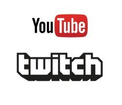 Logos von Youtube und Twitch