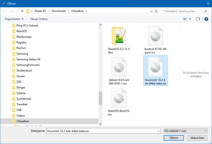 03 Auswahl der ISO Explorer (Bild: ZDNet.de)