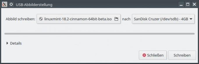 04 LM USB Abbild erstellen Bild: ZDNet.de)