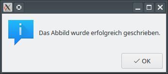 08 LM USB Abbild erstellen beendet (Bild: ZDNet.de)