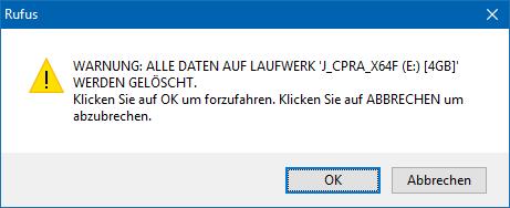 08 Hinweis Daten werden gelöscht (Bild: ZDNet.de)