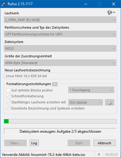 09 Start der Erstellung (Screenshot: ZDNet.de)