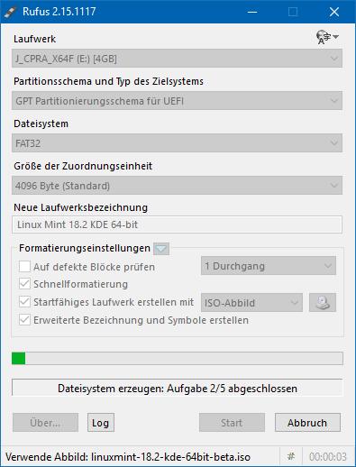 09 Start der Erstellung (Screenshot: ZDNet.de)