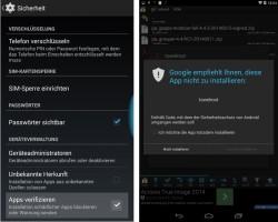 Google prüft Apps aus dem Play Store und von Drittanbietern auf Malware (Screenshot: ZDNet.de)