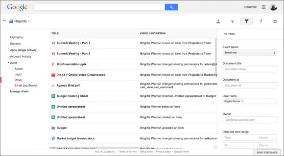 Drive for Work bietet detaillierte Audit-Berichte (Bild: Google).
