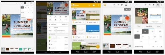 Bearbeiten einer Präsentation mit Google Präsentationen (Screenshot: ZDNet bei Google Play)