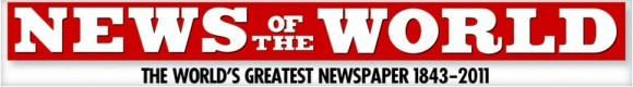 Die großartigste Zeitung der Welt? Logo von News of the World