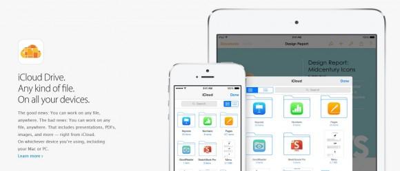 Windows unterstützt Apples Speicherdienst iCloud Drive noch vor OS X (Bild: Apple).