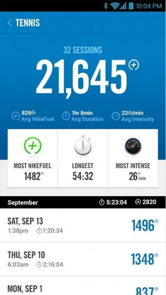 Android-App für Nike FuelBand (Screenshot: Nike)