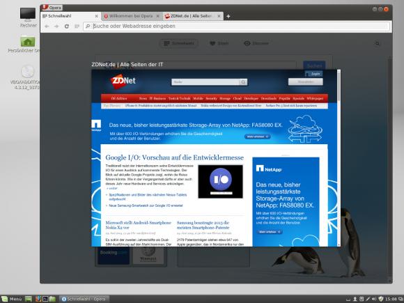 Opera 24 führt unter Linux viele Funktionen ein, die Windows- und Mac-Nutzern schon länger zur Verfügung stehen (Bild: ZDNet.de).