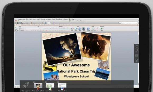 PowerPoint und Umschalten zwischen Programmen (Screenshot: Parallels)