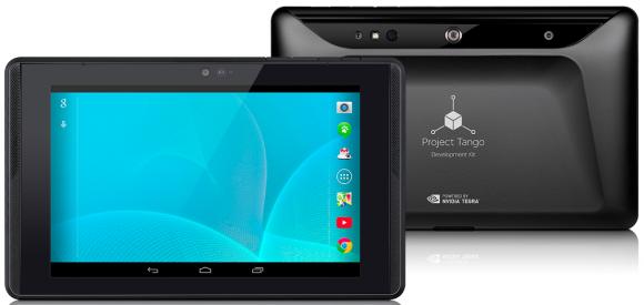 Das Project-Tango-Tablet kommt mit 7-Zoll-Display und Nividias Tegra-K1-CPU (Bild: Google).