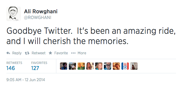 COO Ali Rowghani hat sich nach vier Jahren von Twitter verabschiedet (Screenshot: ZDNet).