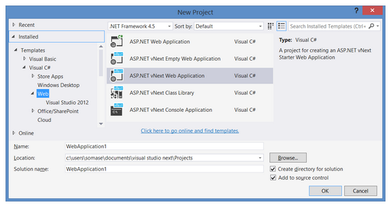 Visual Studio 14 im Einsatz (Screenshot: Microsoft)