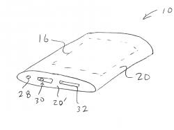 Als Anwendungsbeispiel für die im Patent beschriebenen Glasgehäuse nennt Apple einen Medienplayer (Bild: USPTO).