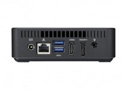 Auf der Rückseite der Asus Chromebox finden sich neben dem Stromanschluss zwei USB-3.0-Schnittstellen, je ein HDMI-, Gigabit-Ethernet- und DisplayPort sowie eine Kopfhörer-Mikrofon-Kombibuchse (Bild: Asus).