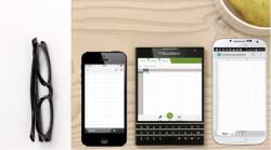 Tabellenkalkulation auf Smartphones (Bild: Blackberry)