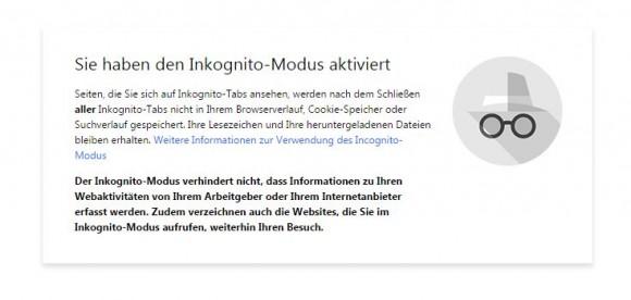 Google hat unter anderem die Startseite des Inkognito-Modus von Chrome neu gestaltet (Screenshot: ZDNet).
