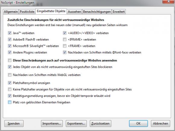 Firefox-Add-on: NoScript