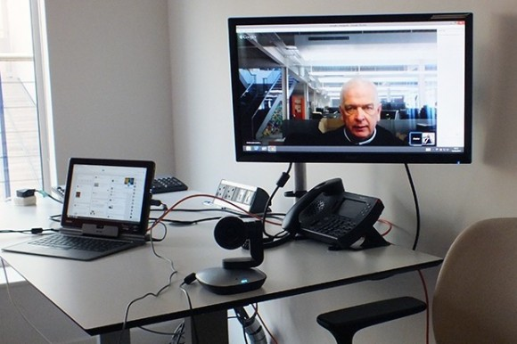Videokonferenz mit Google Hangouts (Bild: ZDNet.com / CBS Interactive)