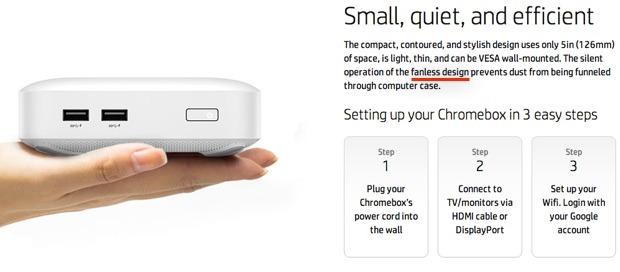 HP-Werbetext (Screenshot und Hervorhebung: ZDNet)