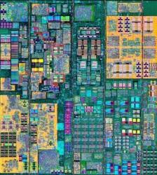 Einer von zwölf Kernen des Power8-Chips aus der 22-nm-Fertigung (Bild: IBM)