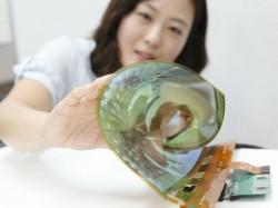 Das flexible OLED-Panel kann bis zu einem Radius von drei Zentimetern eingerollt werden (Bild: LG).