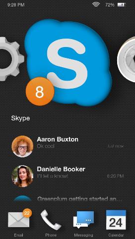 Skype wird auch bald auf Amazons Fire Phone verfügbar sein (Bild: Microsoft).