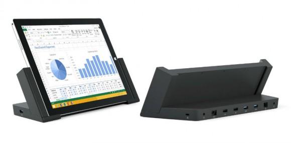 Die Dockingstation für das Surface Pro 3 lässt sich ab sofort für 200 Euro vorbestellen (Bild: Microsoft).