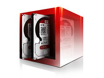 Die WD-Red-Reihe umfasst jetzt auch Laufwerke mit 5 und 6 TByte (Bild: WD).