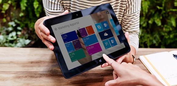 Windows Apportal gibt Nutzern die Möglichkeit, ihre Business-Anwendungen in einer einzelnen touchbasierten Oberfläche zu gruppieren (Bild: Microsoft).