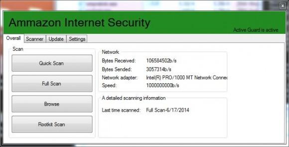 """""""Ammazon Internet Security"""" verspricht Sicherheit und infiziert den Rechner (Bild: Kaspersky Lab)."""