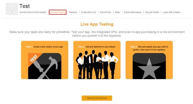 Live App Test (Grafik: Amazon)