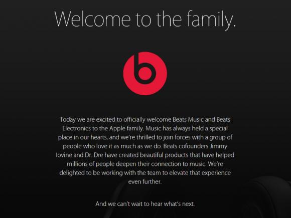 Apple heißt Beats in seiner Familie willkommen (Screenshot: ZDNet.de).