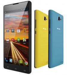 Das Archos 50 Neon kommt mit einem schwarzen, gelben und blauen Wechselcover (Bild: Archos).
