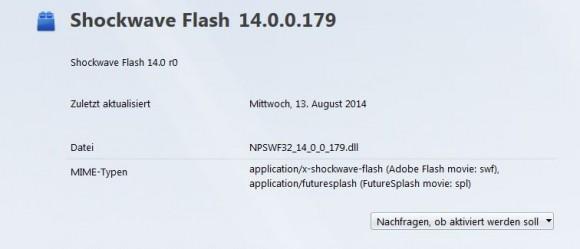 Update: Adobe Flash Player