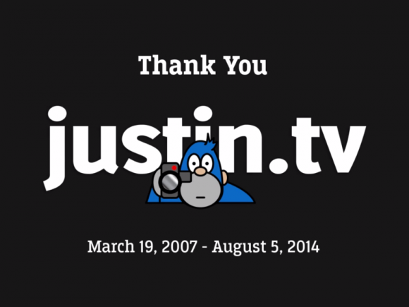 Justin.tv wurde am 5. August eingestellt (Screenshot: ZDNet.de)