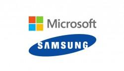 Logos von Microsoft und Samsung (Bild: ZDNet.de)