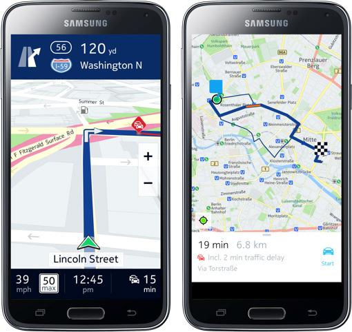 Nokia Here Samsung Galaxy