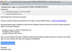 Phishing-Mail (Screenshot: Proofpoint)