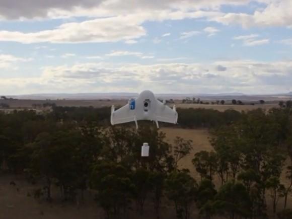 Google hat Protypen von zu Lieferzwecken gedachten Drohnen in Australien getestet (Screenshot: ZDNet.de)