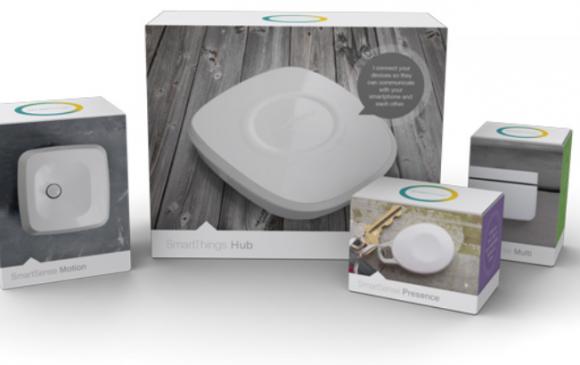 Hub und Sensoren für das Smart Home (Bild: SmartThings)