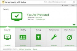Norton Security with Backup (Screenshot: Symantec)