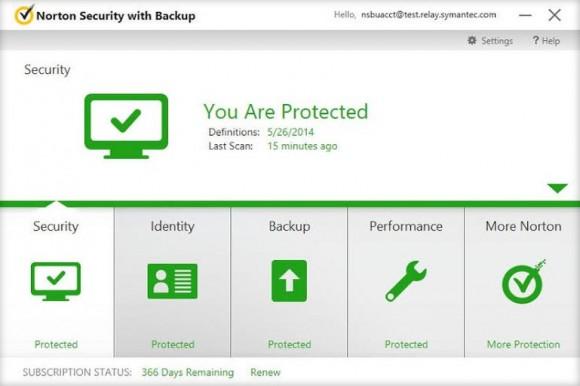 Norton Security with Backup (Screenshot: Symantec)