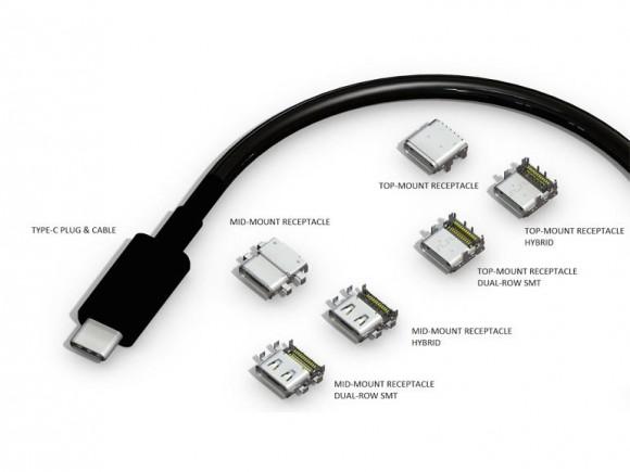 Kabel und verschiedene Buchsen des USB Typ C (Bild: USB 3.0 Promoter Group)